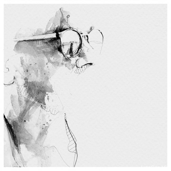 国外作家Black & White黑白肖像画艺术作品欣赏14
