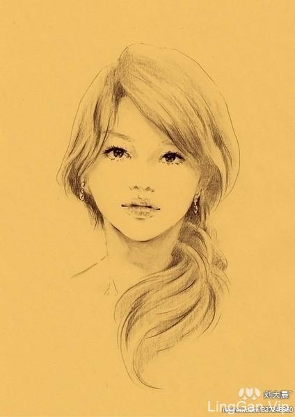 人物插画美女-20P