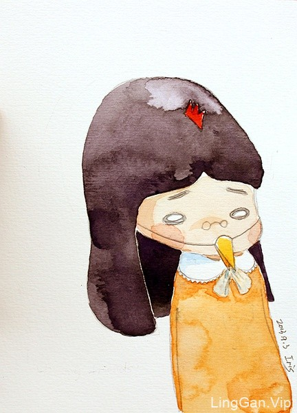 糖瓜毕业后的画画生活,手绘插画-可爱的小女孩人物
