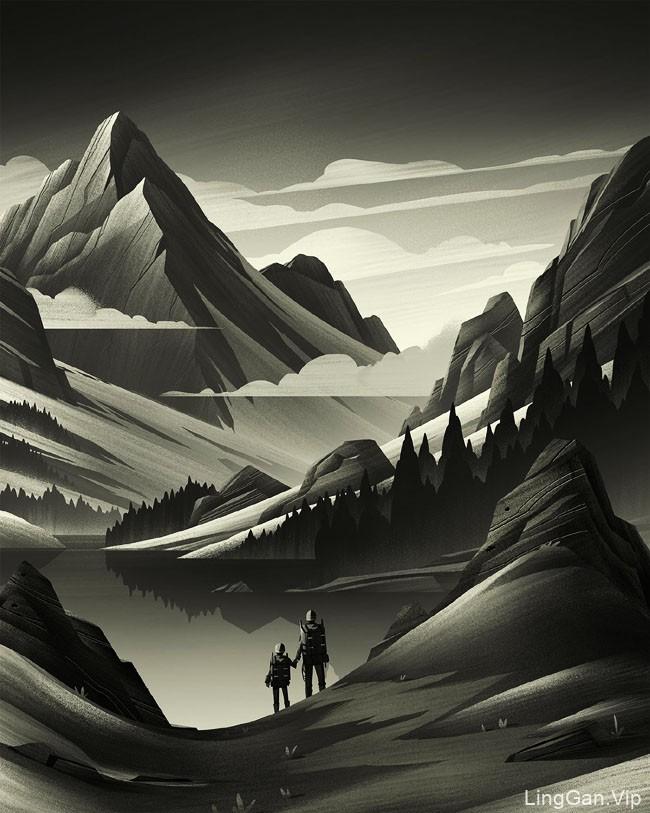美国设计师Brian Miller场景插画设计