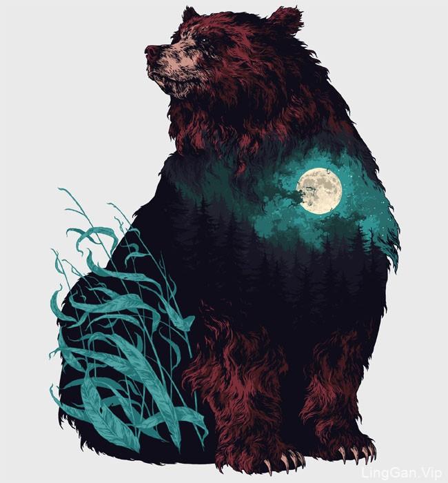 俄罗斯插画师Ivan Belikov动物插画设计