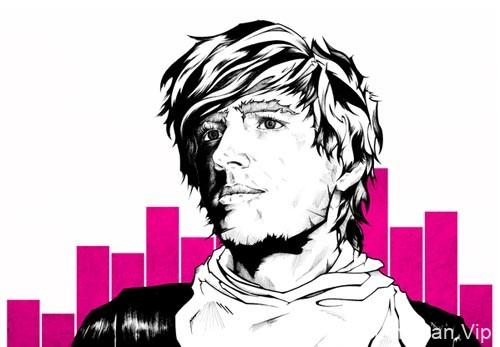 德国Andreas Preis的人物素描插画设计