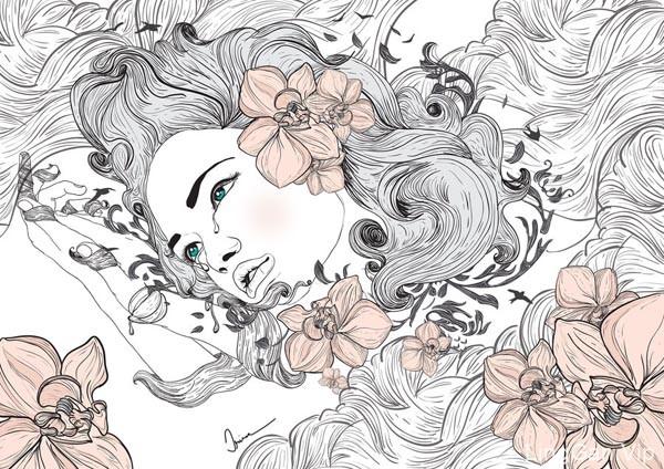 精彩时尚女性类人物插画设计