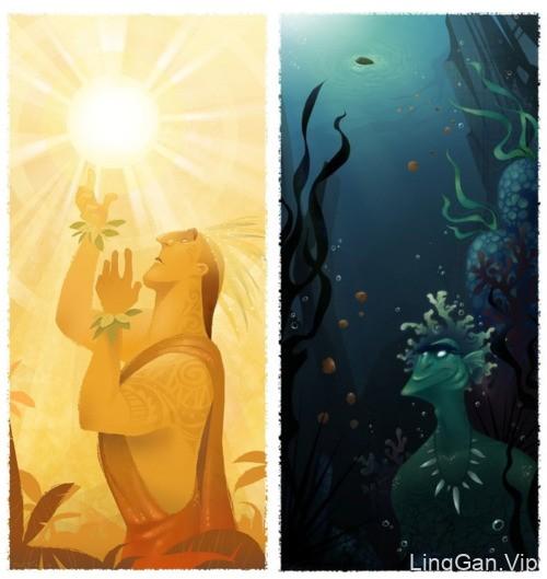 国外设计师Brittney Lee动画电影插画设计