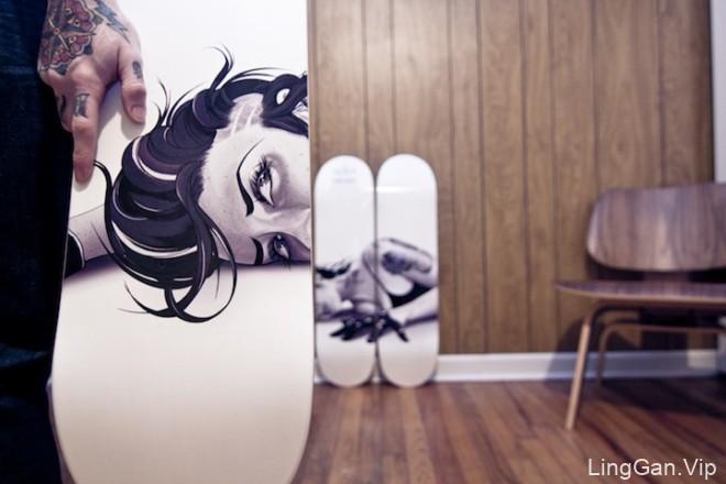 国外插画师Tyson McAdoo滑板插画艺术