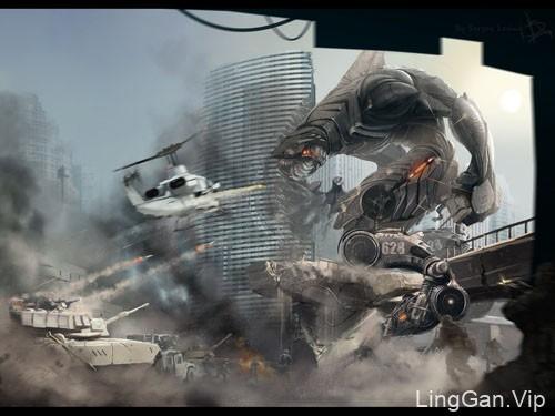 国外令人兴奋的战争科幻插画设计
