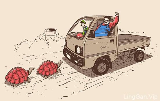 马来西亚插画师Chow Hon Lam幽默插画欣赏(二)