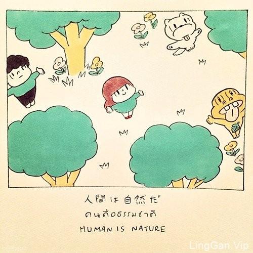 她的小生活,wisut手绘可爱插画