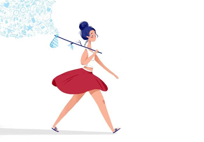 俄罗斯Lana Zorina插画设计《女孩》