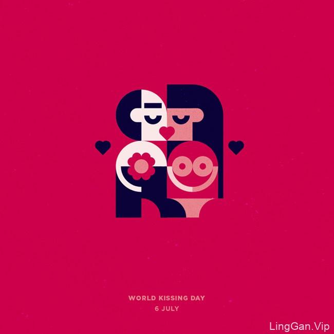 俄罗斯设计师Konstantin假日主题插图设计
