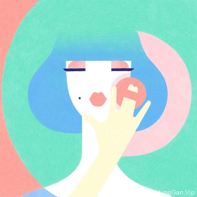 国外设计师Samy Halim的装饰人物插画设计
