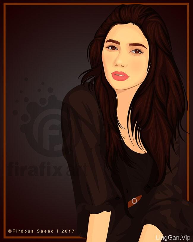国外设计师Firdous Saeed人物插画设计
