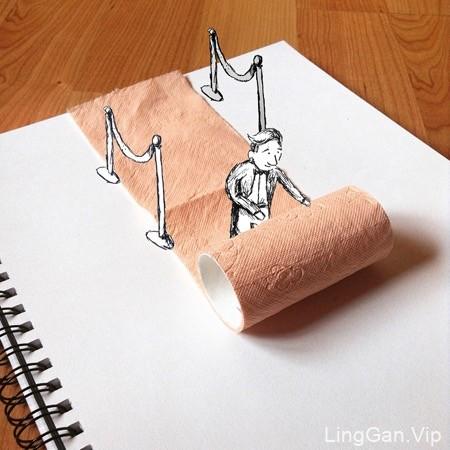 国外艺术家Kristian Mensa创意趣味小插画