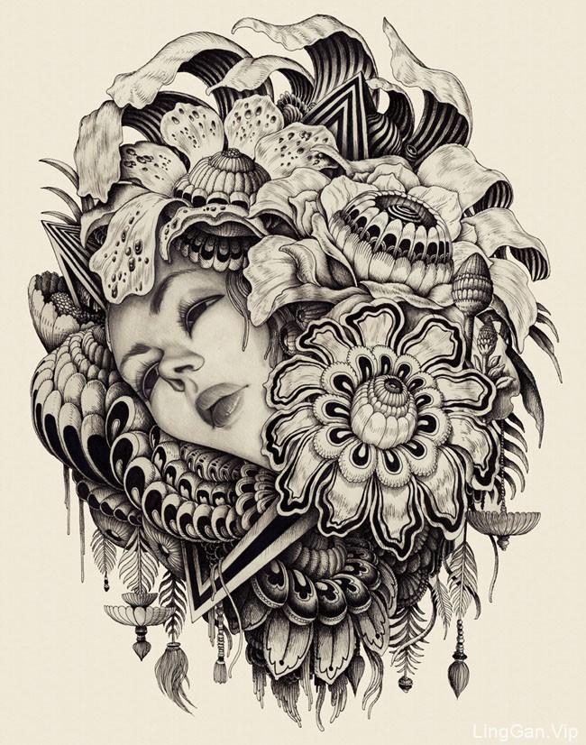 英国设计师Iain Macarthur概念肖像插画设计
