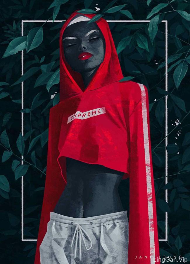 加拿大Janice Sung时尚女性人物插画设计