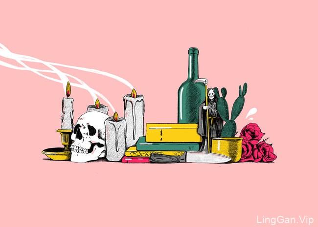 西班牙Ulises装饰静物插画设计作品