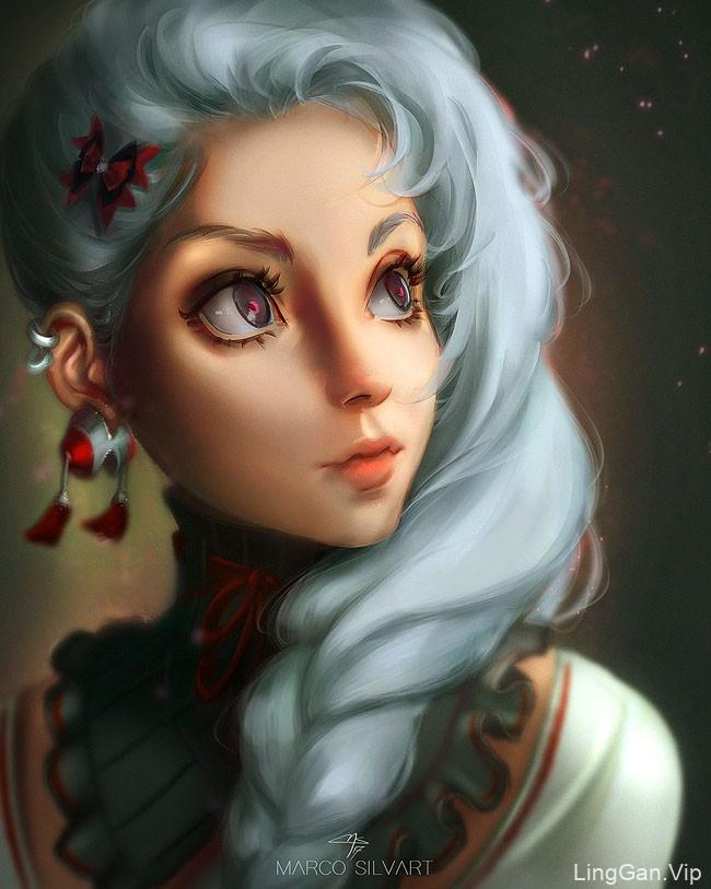 国外Marco Aurelio漂亮的女性人物插画设计
