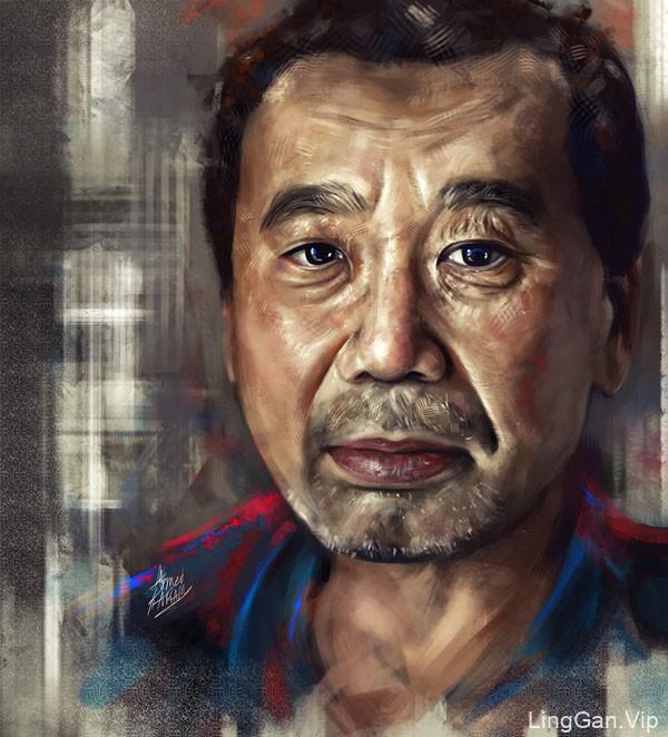 国外设计师Ahmed Karam男性人物肖像插画设计作品