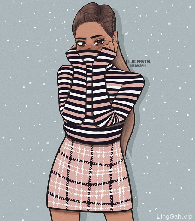Ledia Mero人物插画设计作品