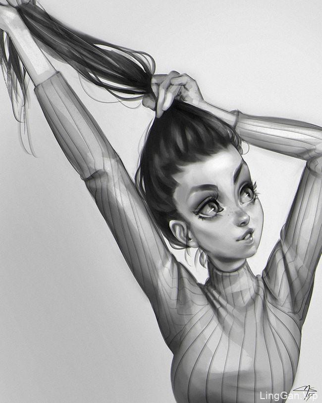 巴西Marco Aurelio女性人物插画设计合集