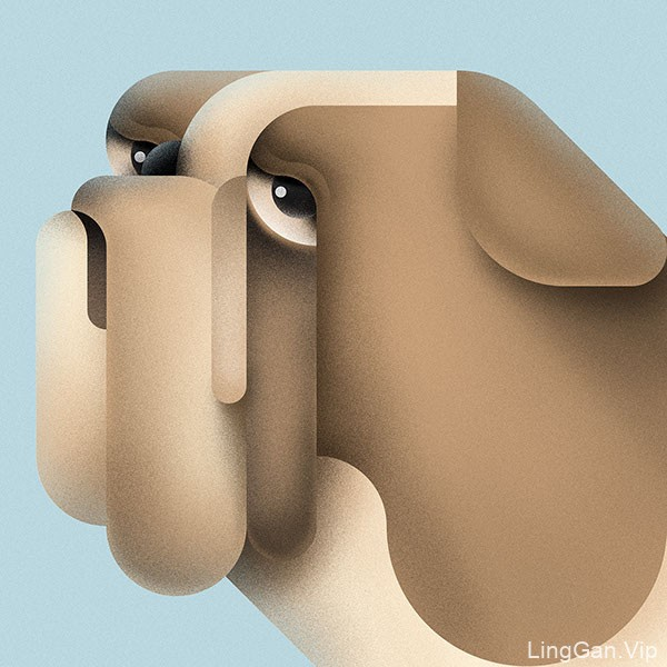 国外设计师Braca动物插画作品