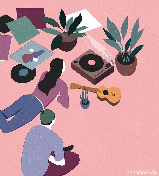 12款菲律宾Geraldine装饰风格插画设计