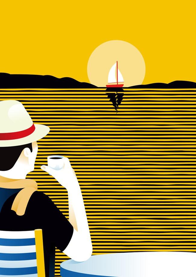 Lavazza Bourbon系列插画设计