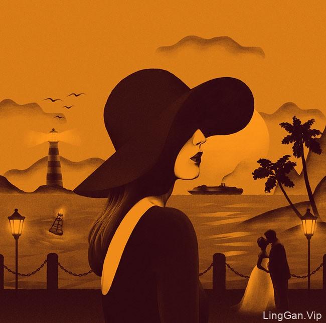巴西Bernardo Abreu女性插画设计