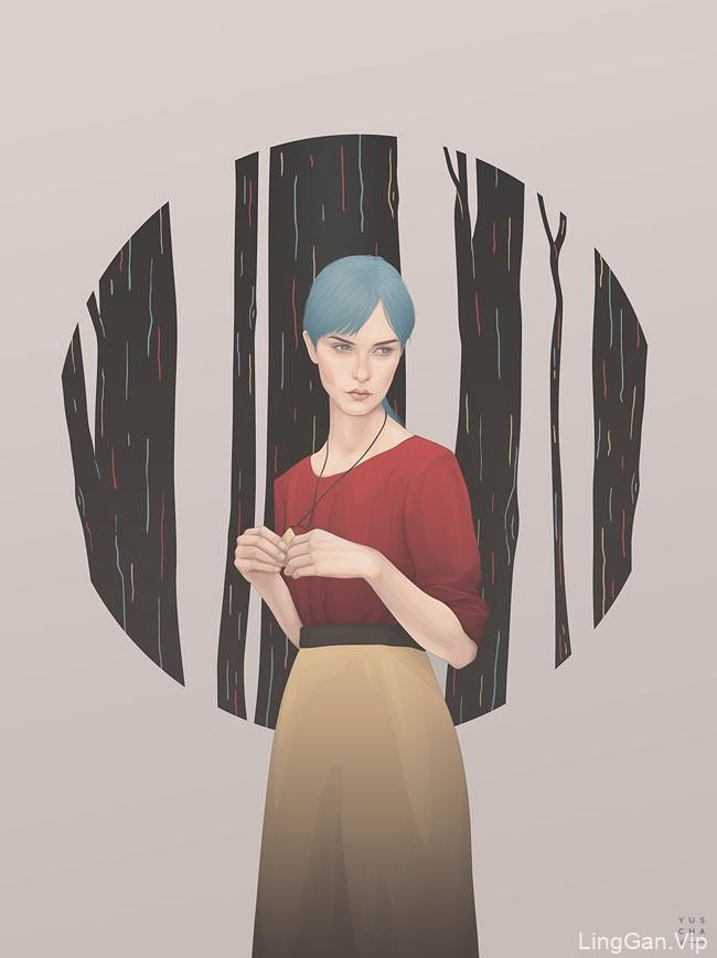 Yuschav Arly时尚人物插画设计NO.3