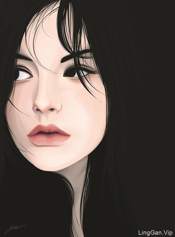 Yuschav Arly矢量人物女性插画作品NO.2