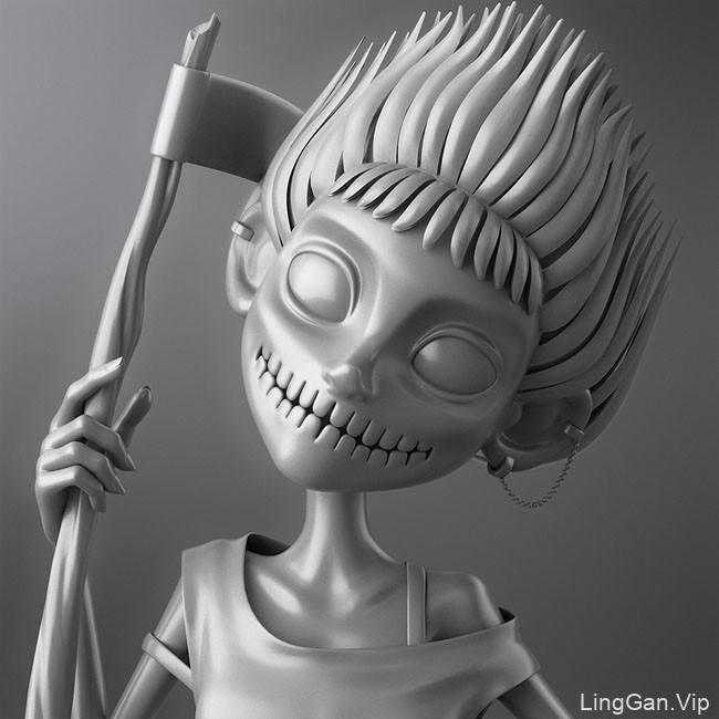设计师Alina最新3D角色设计