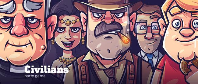 party game游戏角色插画设计