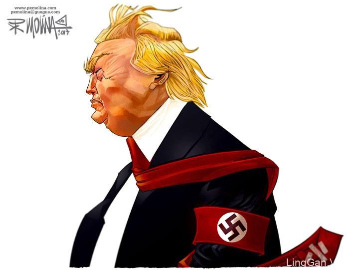 Pedro Molina讽刺漫画设计作品