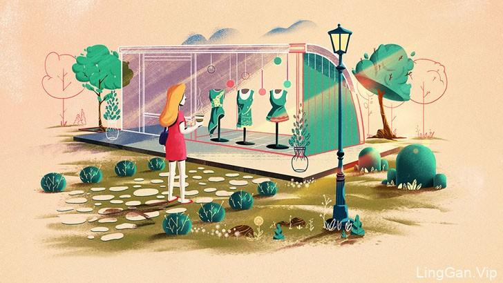 土耳其Mesa Cadde地产项目插画设计