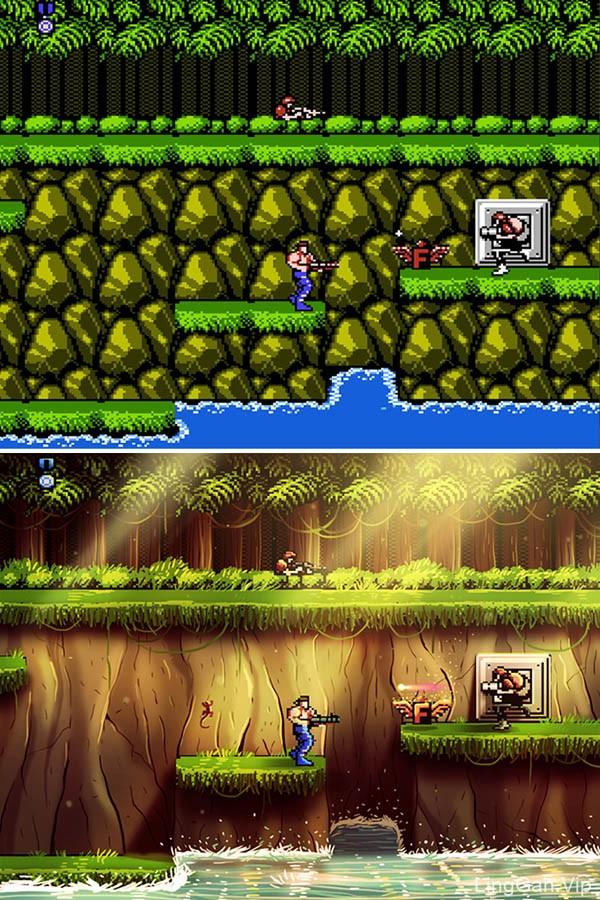 美国Andres Moncayo对NES游戏的翻新插画作品