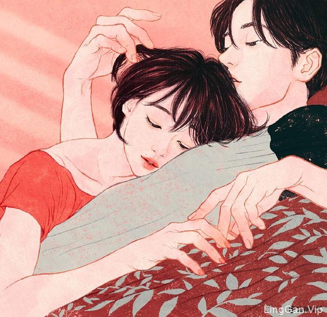 韩国Zipcy情侣插画设计作品