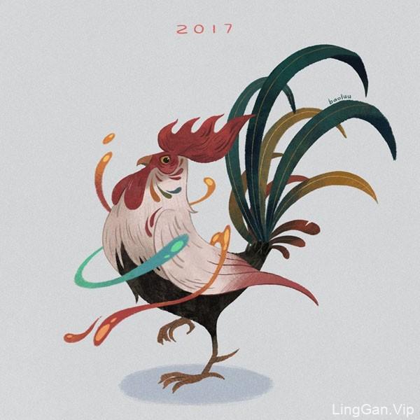2017年越南设计师鸡年插画设计合集NO.1