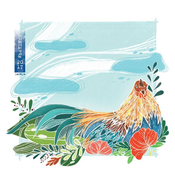 2017年越南设计师鸡年插画设计合集NO.2