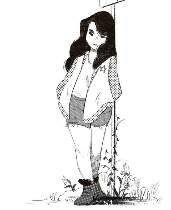 Flower Friends主题人物插图设计
