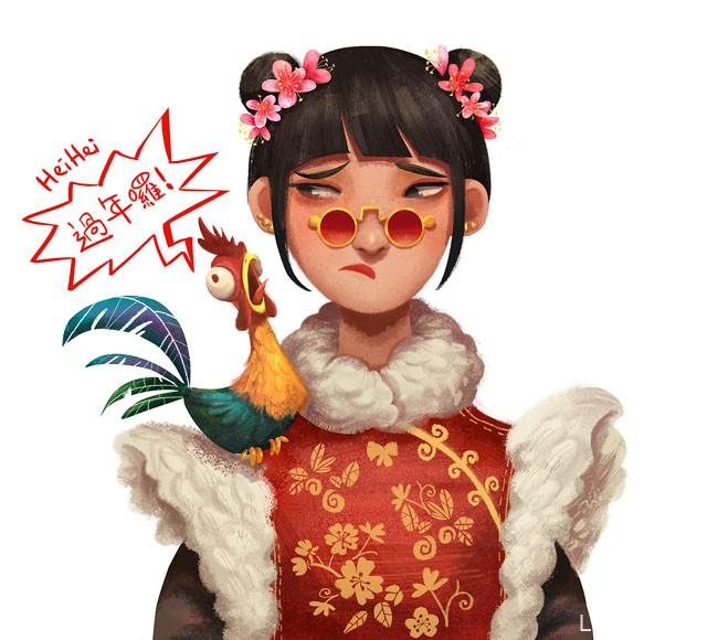 马来西亚Rachel Ho风格人物插画