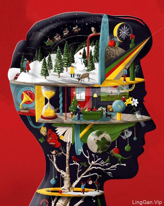 法国Sam Falconer充满想象力的概念插画