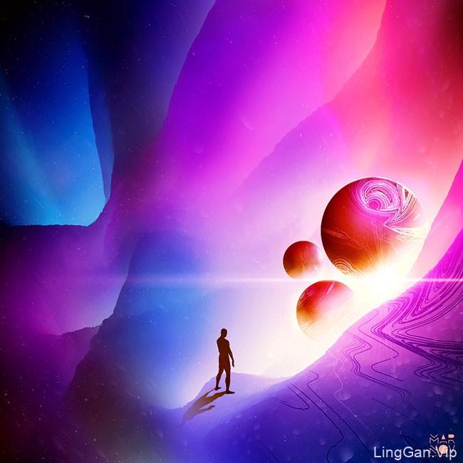 Starman主题数码艺术插画设计