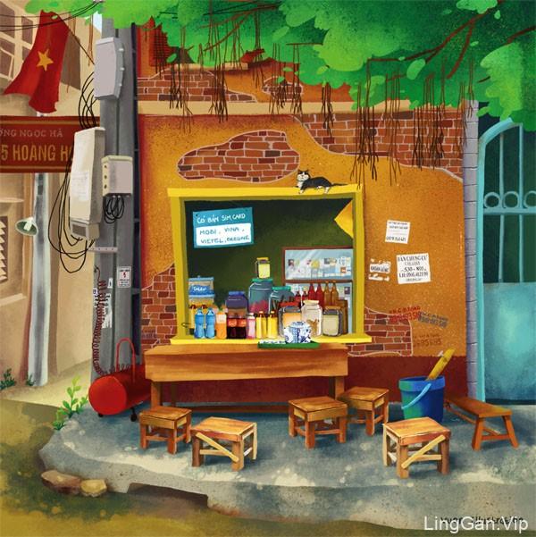 越南Vuon漂亮的插画设计作品