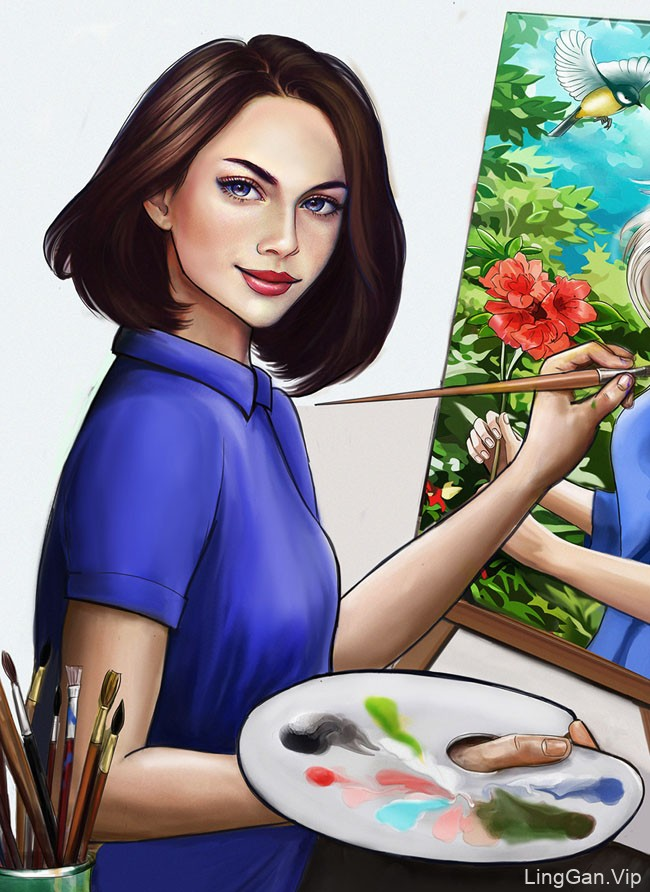 Kelly Cox健康与美丽主题人物插画设计