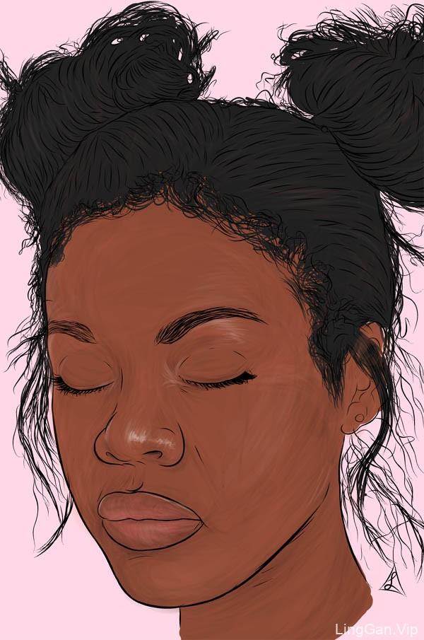 南非Lorenzo时尚人物插画作品