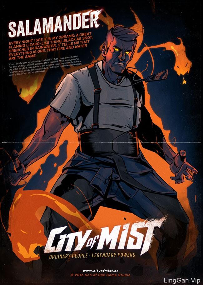 City of Mist系列角色插画设计