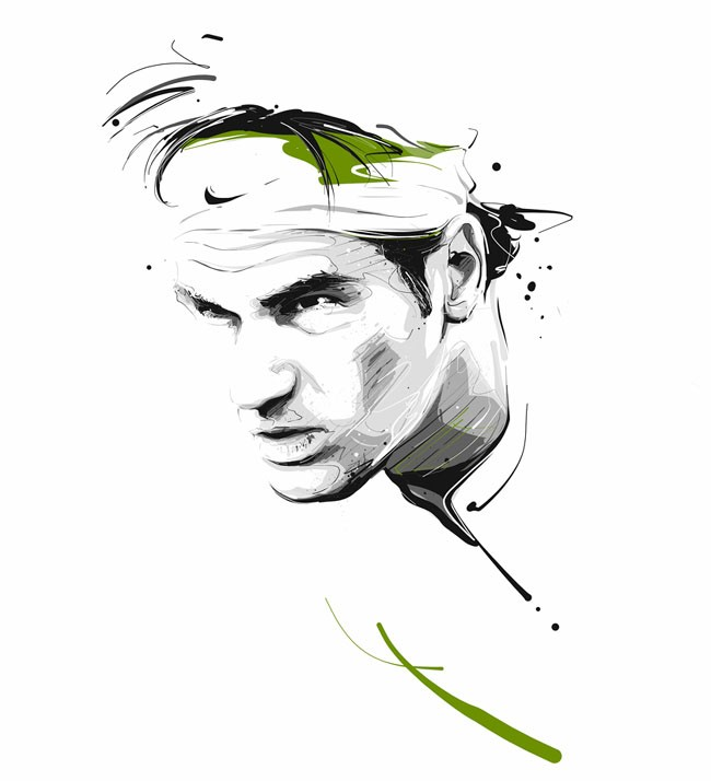 爱尔兰Tomasz Usyk运动员肖像插画
