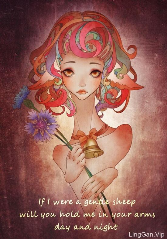 19幅唯美性感的美女插画设计