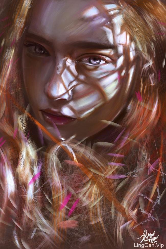 埃及Ahmed Karam女性肖像插画设计作品NO.2