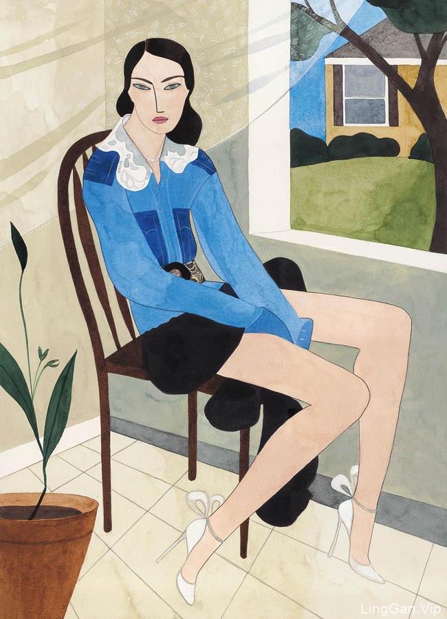 意大利《MarieClaire》 杂志10月号主题插画